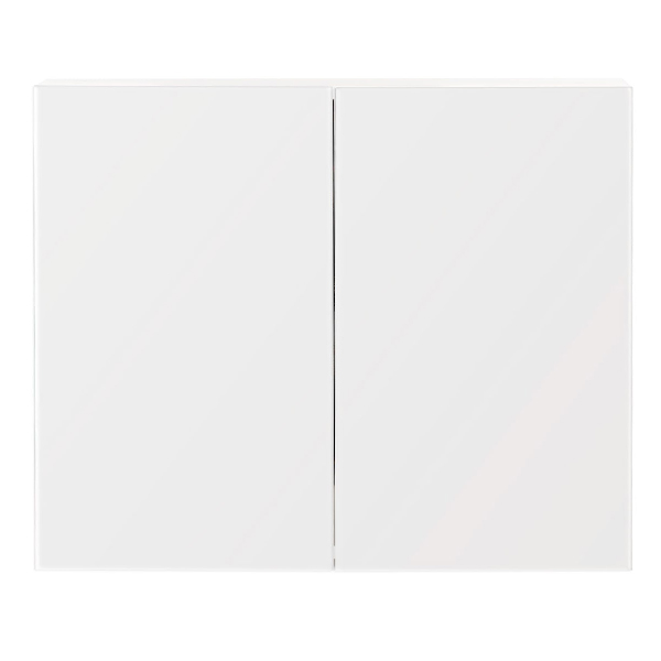 Simple Funky Cabinet Modern Bathroom White Mirror Cabinet