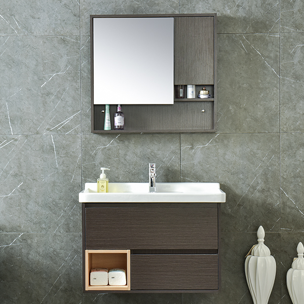 MDF Classical Luxury Bathroom Furniture Mirrored Cabinet AM-6039