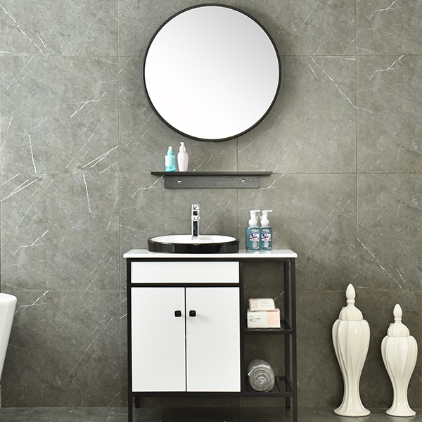 MDF Classical Bathroom Furniture Mirrored Corner Cabinet AM-6037