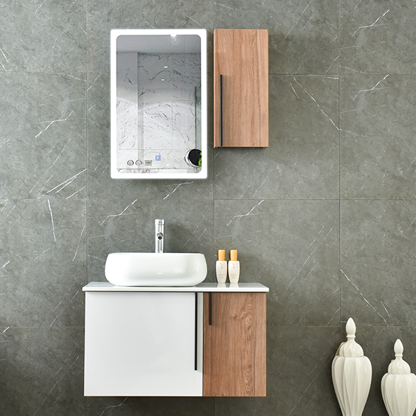 MDF New Design Wooden Bathroom Mirrored Cabinet AM-6045