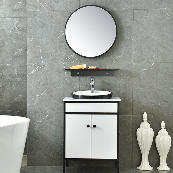 MDF Classical Bathroom Cabinet Mirrored Corner Cabinet AM-6038