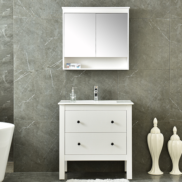 MDF Classical Bathroom Furniture Set Mirrored Cabinet AM-6043