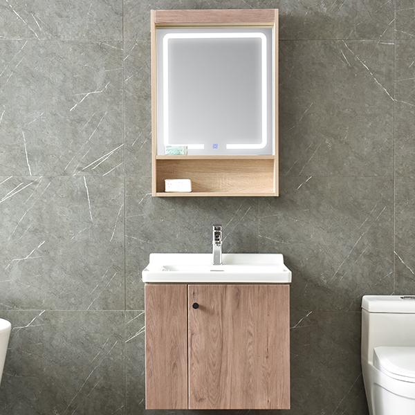 MDF Classical Acrylic Bathroom Cabinet With LED Lamp AM-6048