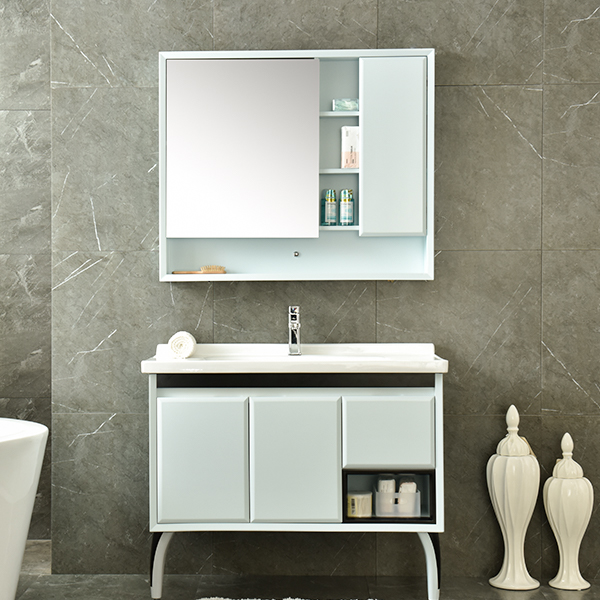 PVC Cheap Irregular Shape Bathroom Vanity Model No.AM-2503-1