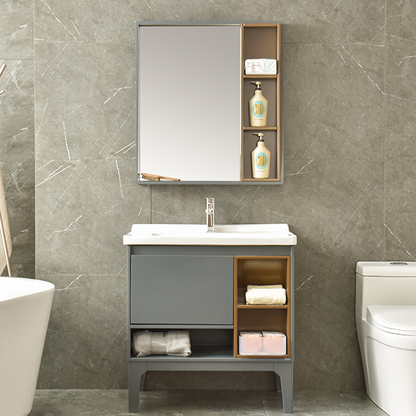 PVC Low Price Waterproof Bathroom Vanity Model No. AM-2504-1