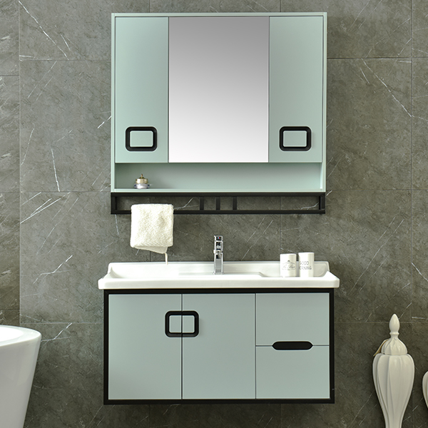 PVC Cheap Japan Style Bathroom Vanity Waterproof AM-2500-1