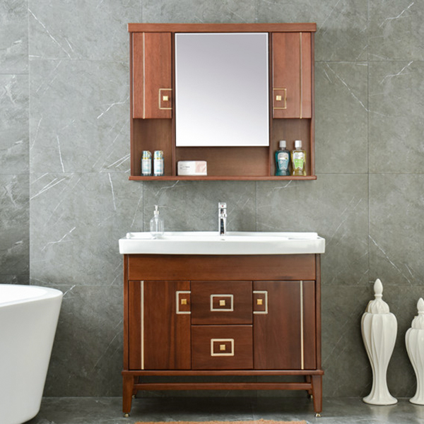 MDF Solid Wood German Style Bathroom Vanity AM-3165