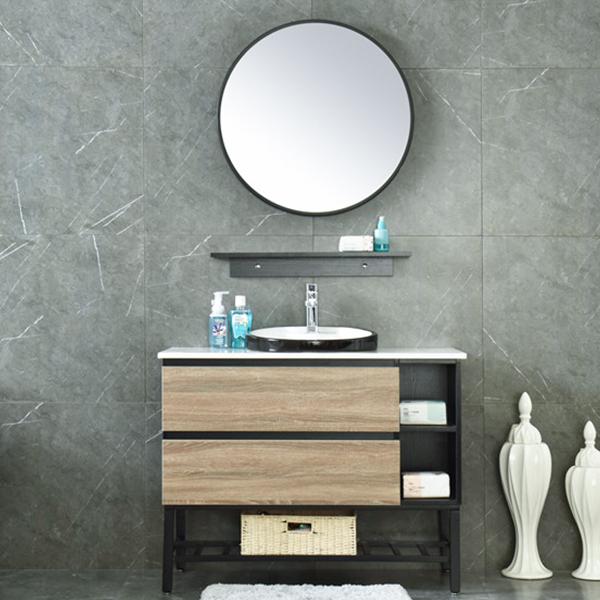 MDF Classical Hotel Bathroom Furniture Mirrored Cabinet AM-6041