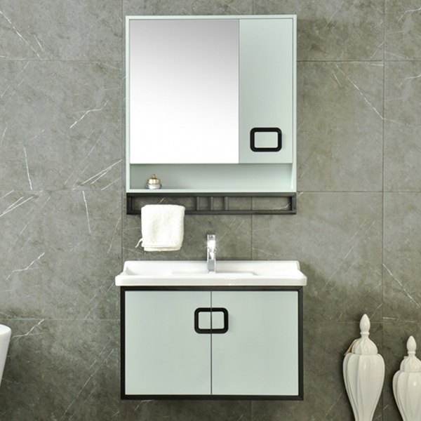 PVC Cheap Single Bathroom Vanity Waterproof AM-2500