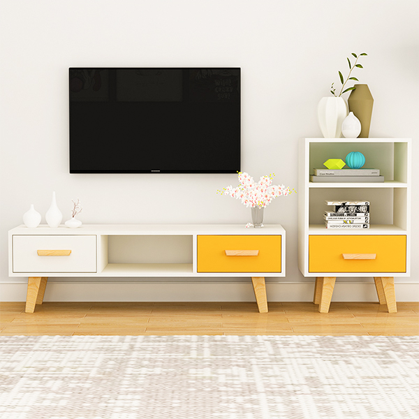 Home Design TV Cabinet MDF Melamine European Style