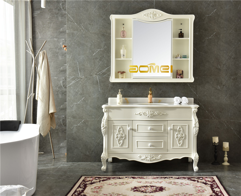 European Style Pvc Bathroom Vanity Waterproof AM-1696